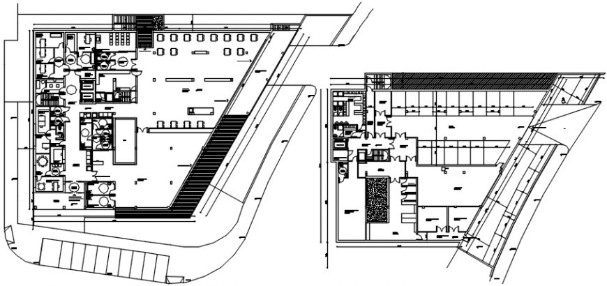 Luxuries hotel kitchen and service floor plan cad drawing details dwg file
