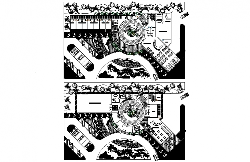 Luxuries hotel layout plan and structure details dwg file