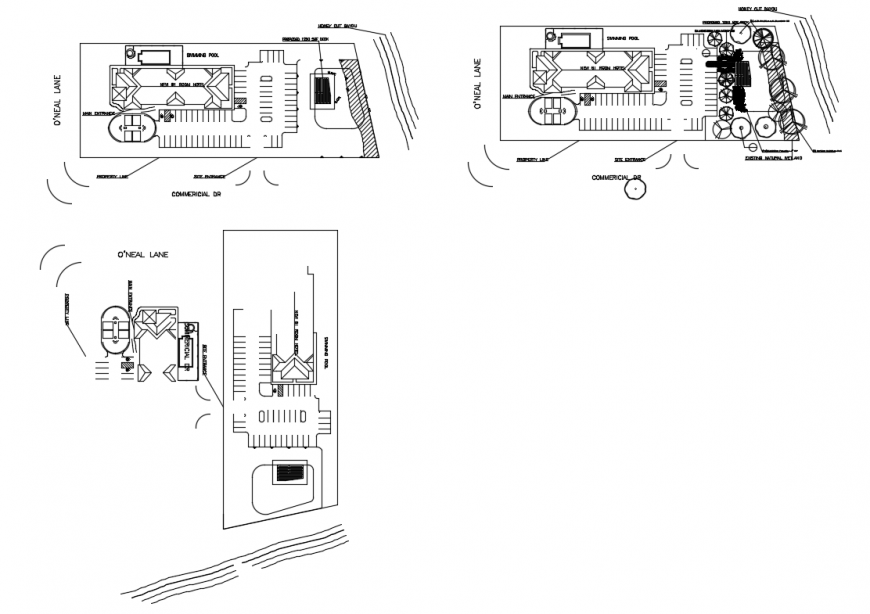 Luxuries hotel site plan, floor plan and auto-cad details dwg file