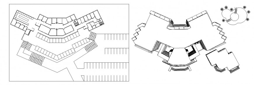 Luxuries hotel top view elevation and framing plan cad drawing details dwg file