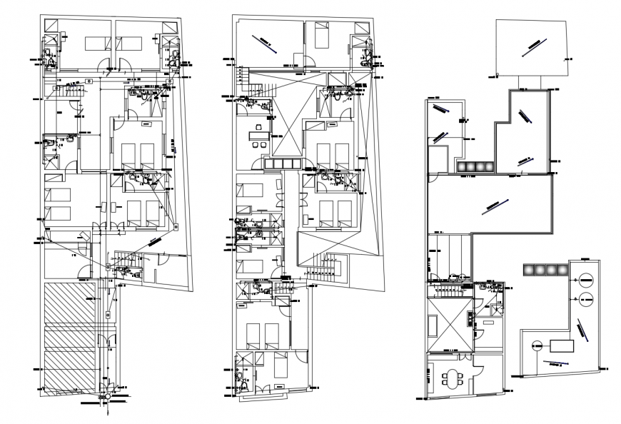 Luxuries residential villa floor distribution plan cad drawing details dwg file
