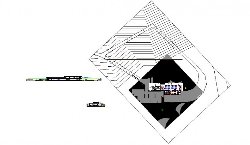 Luxuries restaurant elevation, sectional and layout plan drawing details dwg file