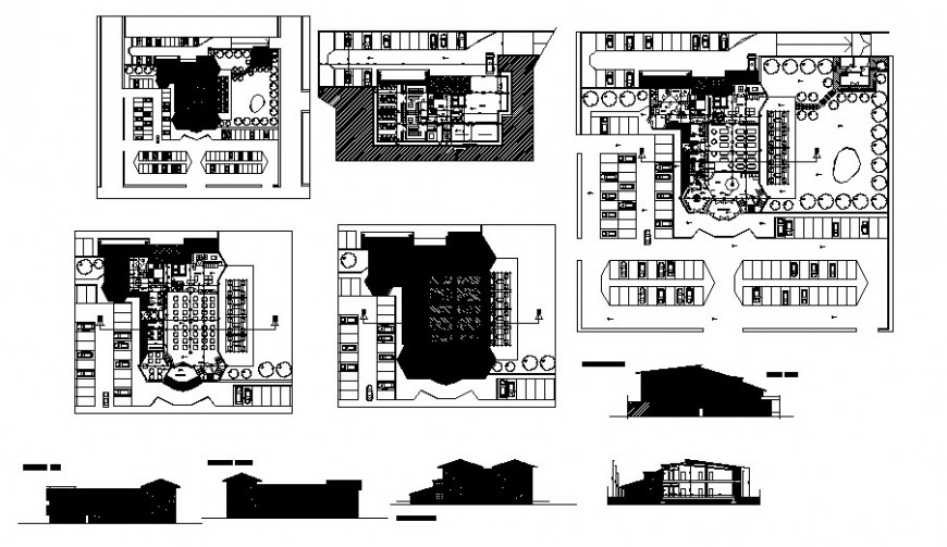 Luxuries restaurant in El. tiger detailed architecture project dwg file