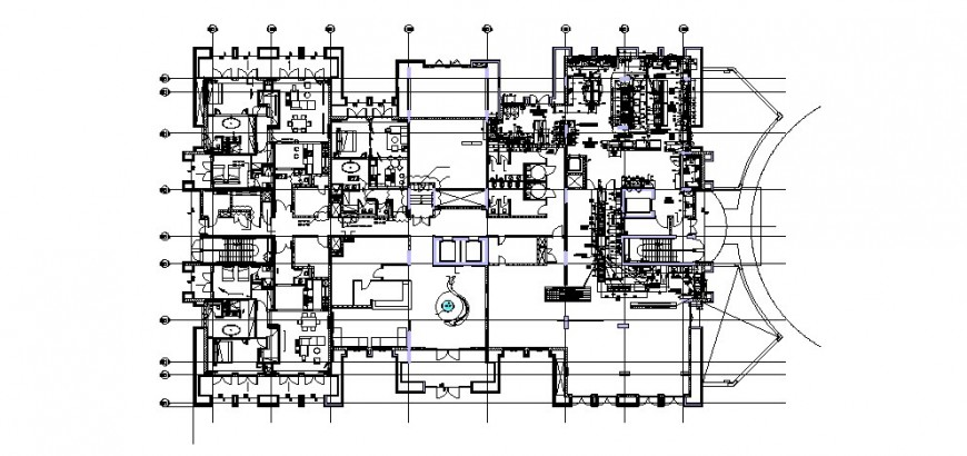 Luxuries restaurant layout plan and equipment cad drawing details dwg file