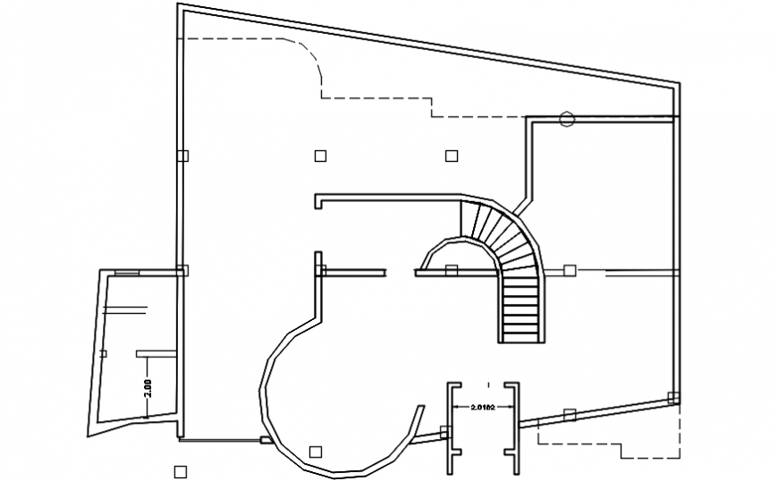 Luxuries villa framing and cover plan cad drawing details dwg file