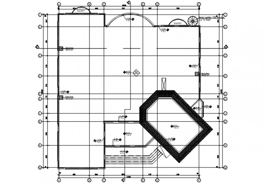 Luxuries villa ground floor framing plan structure details dwg file