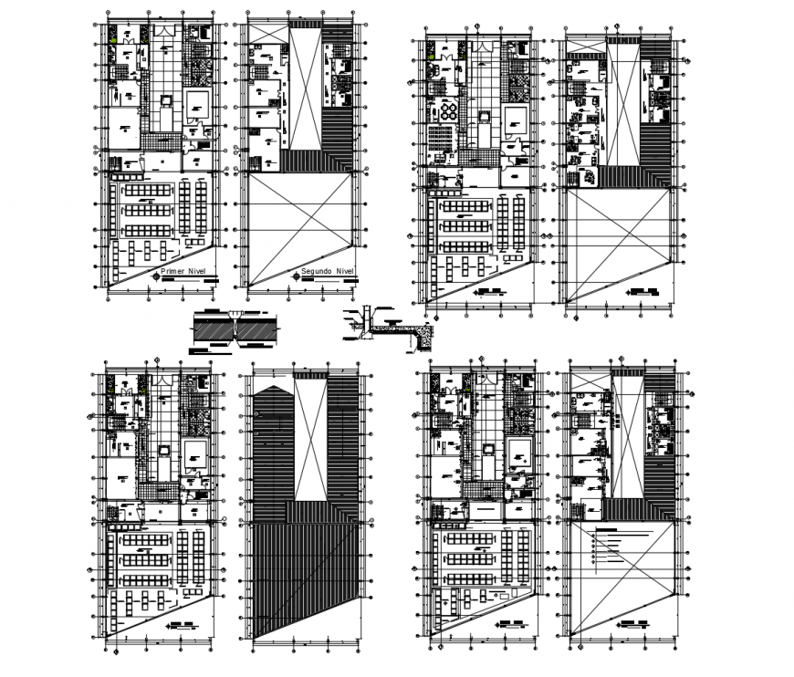 Luxuries villa with club house floor plan distribution drawing details dwg file