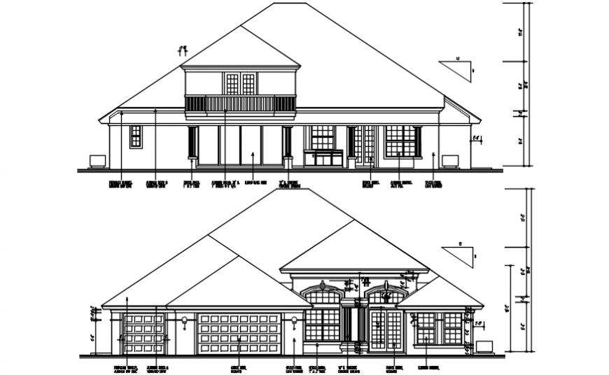 Luxurious big bungalow 2d concept detailing