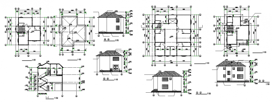 Luxury Villa Type Construction Drawing detail dwg file