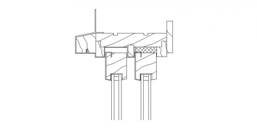 Main double door coupling cad drawing details dwg file