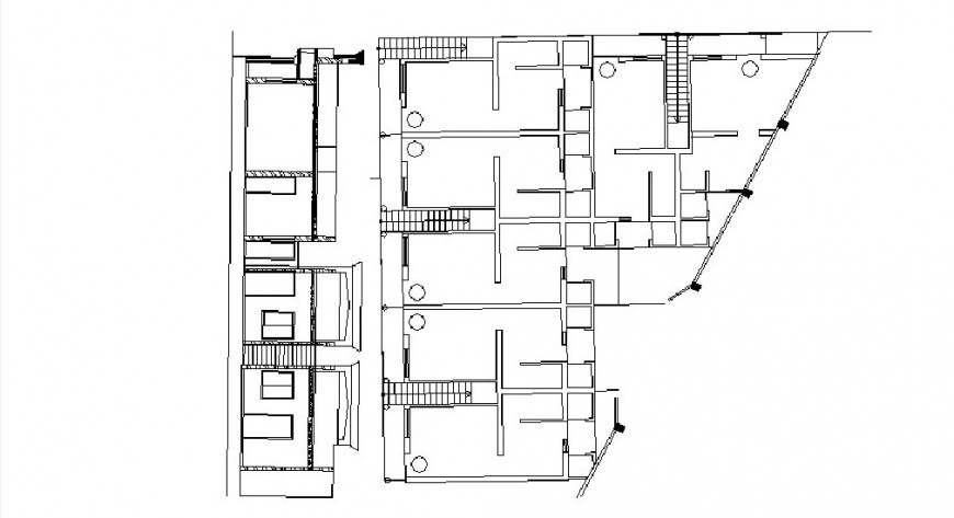 Main elevation and cover plan drawing details of house dwg file