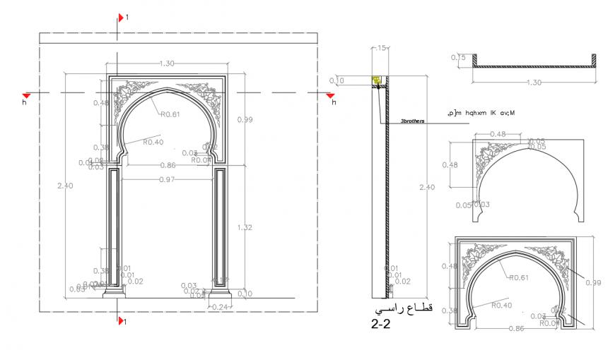 Main Entrance Gate Elevation design