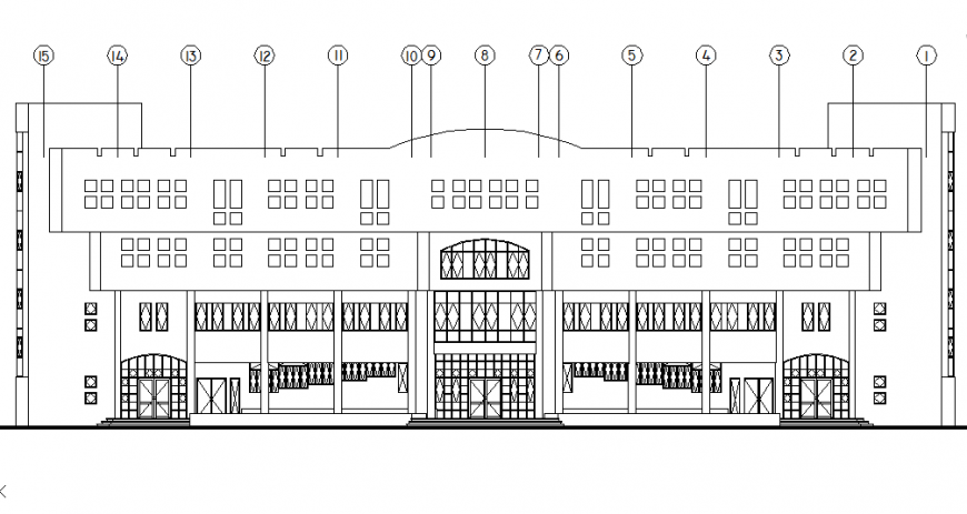 Main gate commercial building plan