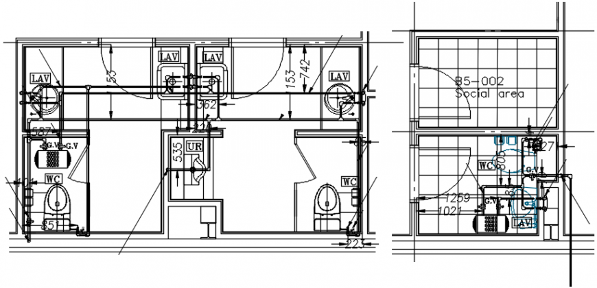Main guard house layout plan cad drawing details dwg file