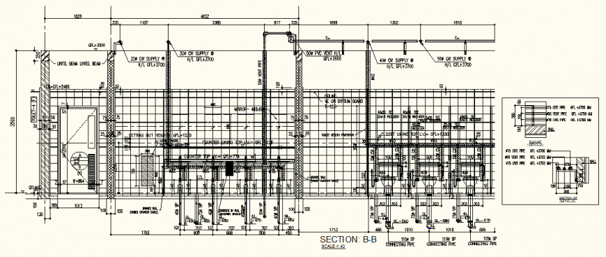 Mall detail sanitary system section layout file