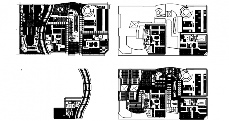 Mall floor plan in auto cad software