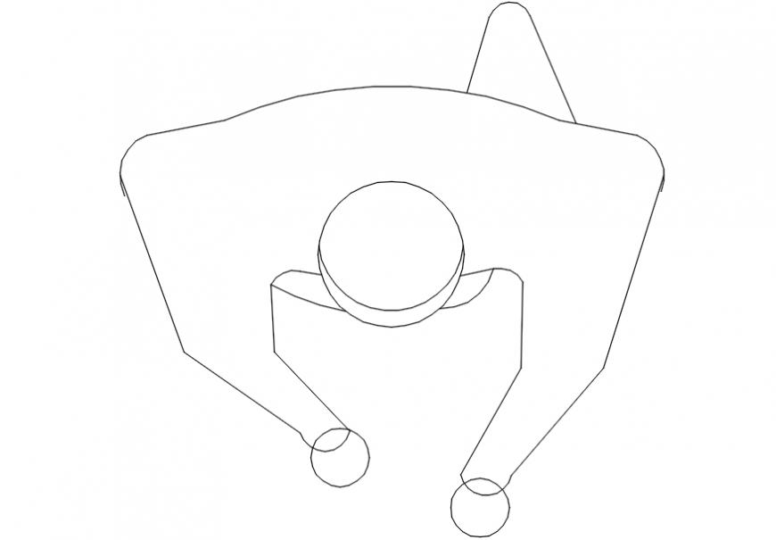 Man figure top view elevation block drawing details dwg file