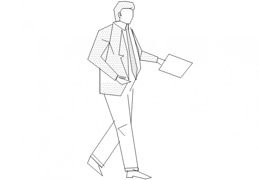Man posing a meeting model