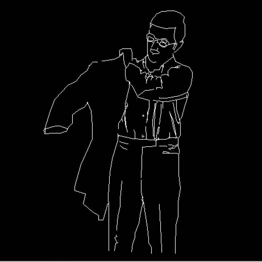 Man wearing coat cad block design dwg file