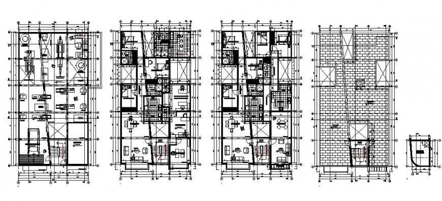 Mansion floor plan drawing in dwg file.