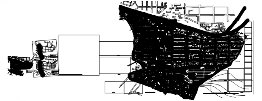 Map detail 2d plan view