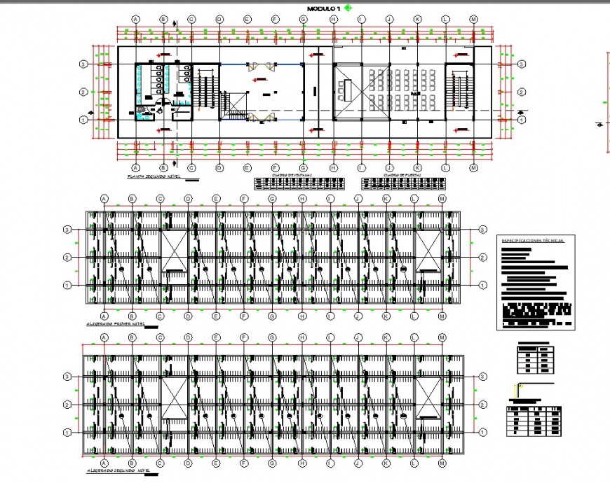 Map of architecture and extractor market beam section detail dwg file