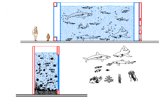 marine animals dwg file