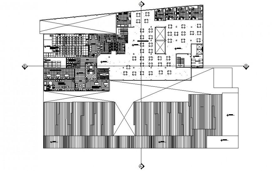 Market area drawings details work plan 2d view autocad file