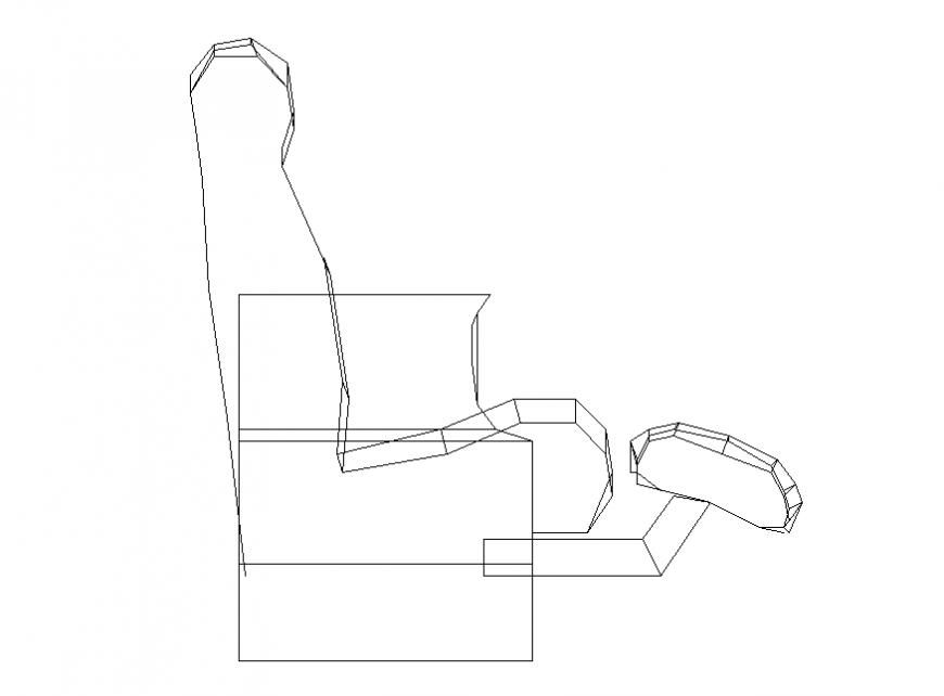Massage chair autocad elevation detail dwg file