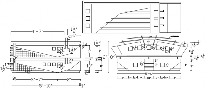 Master bed all sided elevation and dimensions cad drawing details dwg file
