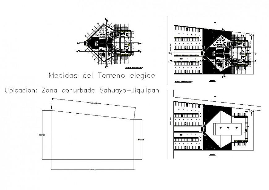 Medical center floor distribution plan cad drawing details jpg file