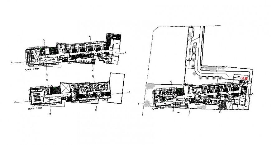 Medical Centre floor plan in auto cad software