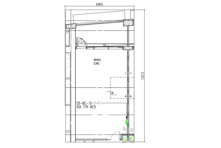 Medical clinic building floor plan dwg file
