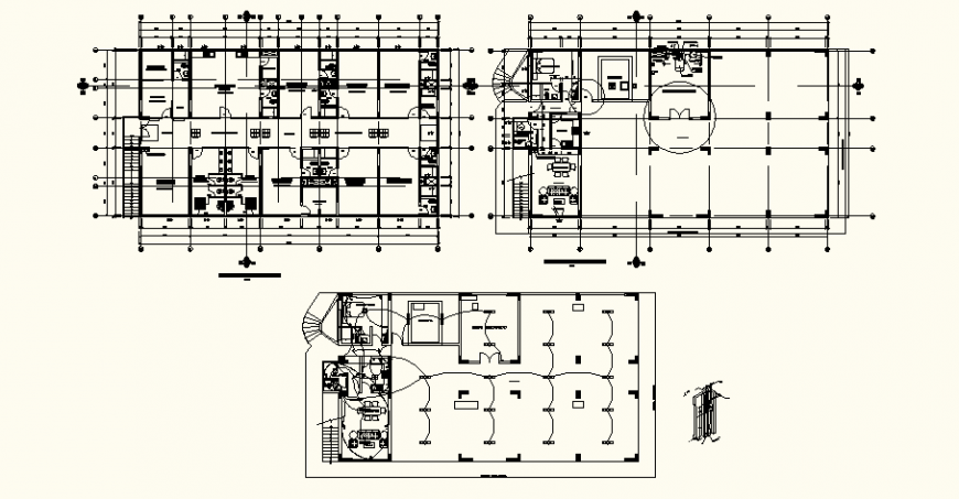Medical clinic construction detail drawing in dwg AutoCAD file.