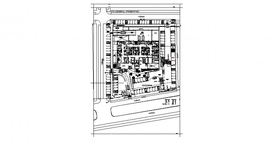 Medical clinic distribution layout plan cad drawing details dwg file