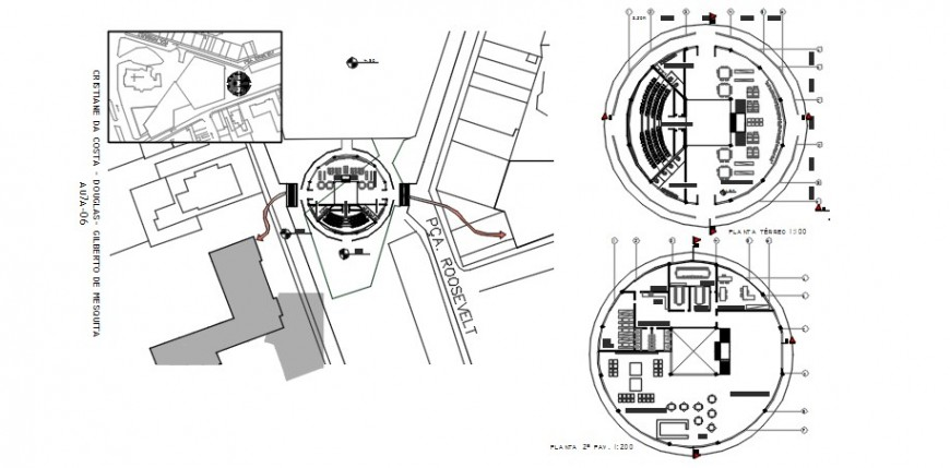Medical clinic floor plan distribution drawing details dwg file