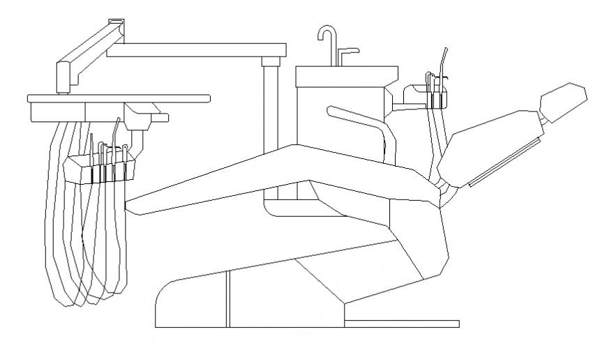 Medical clinic furniture blocks cad drawing details dwg file
