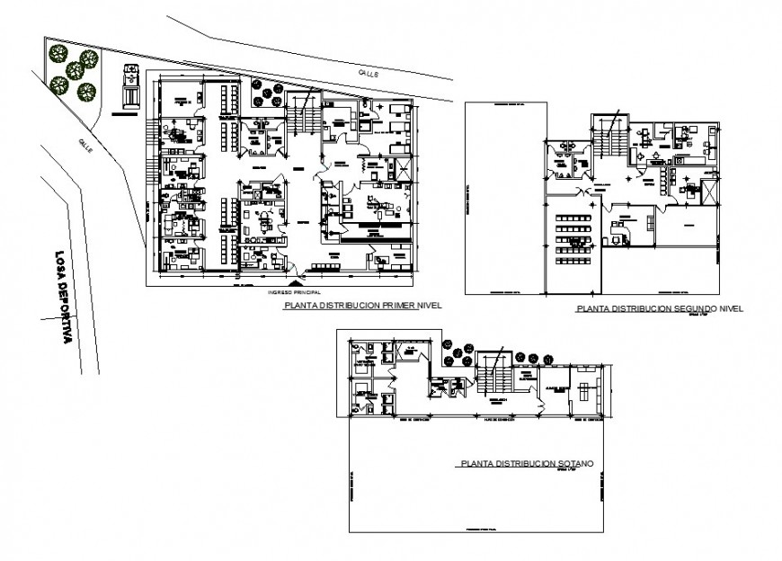 Medical health center first, second etc floor plan distribution cad drawing details dwg file
