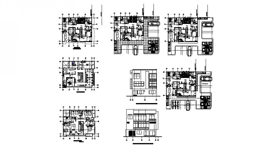 Medical research clinic floor plan and elevation in auto cad
