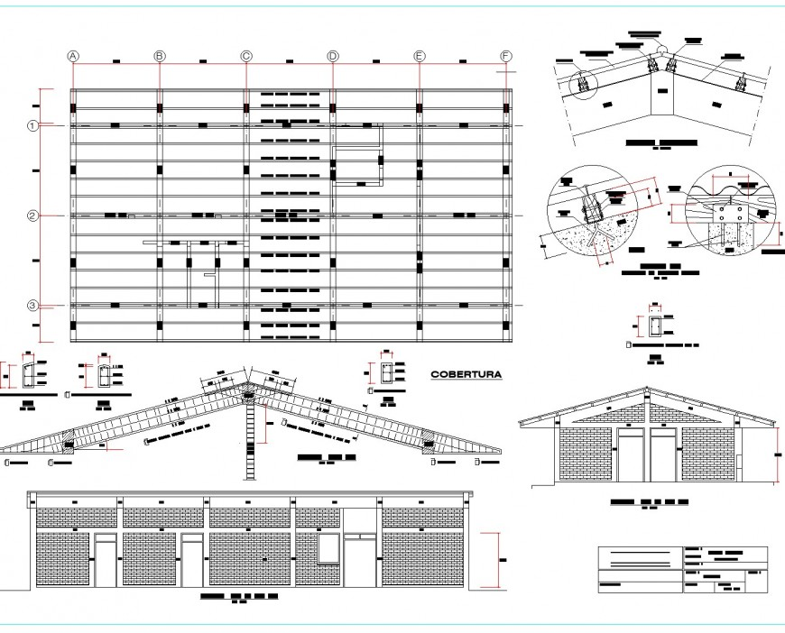 Medical store and roofing layout file