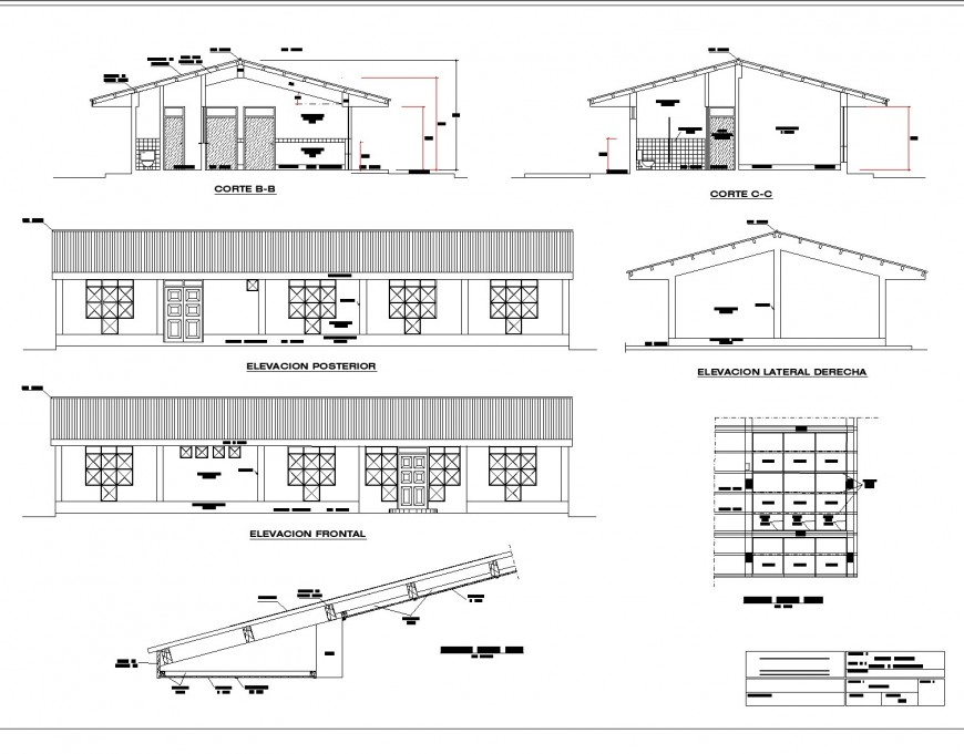 Medical store structure autocad file
