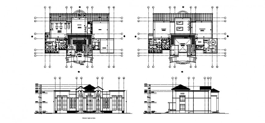 Medieval architecture sports center detail drawing in dwg AutoCAD file.
