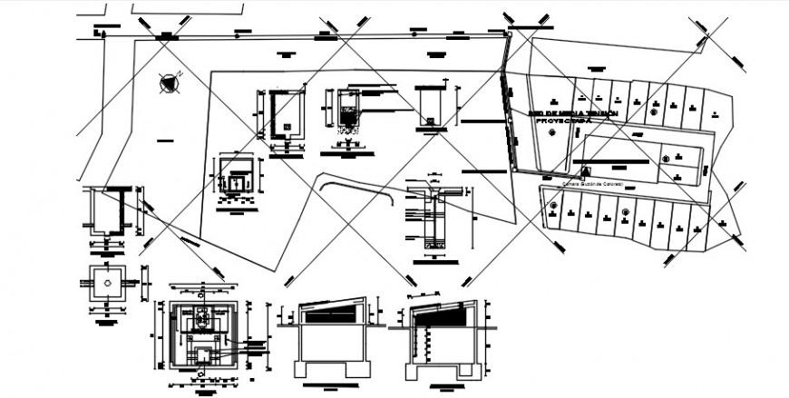 Medium voltage electrical installation urbanization cad drawing details dwg file