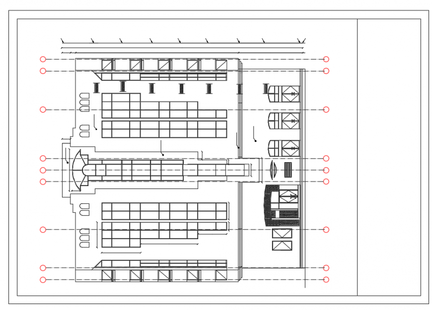 Meeting room lay-out drawing
