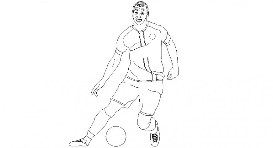 Men playing football 2d drawing of people block dwg file