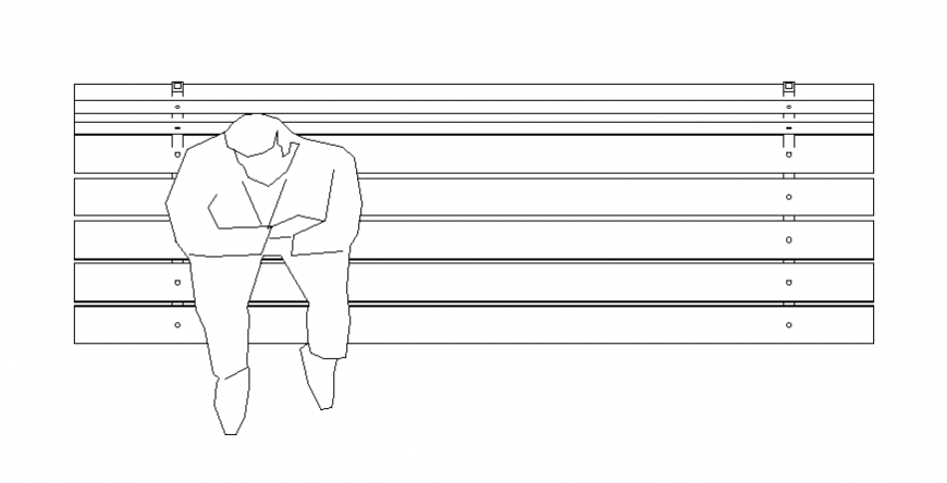 Men seat bench detail autocad file
