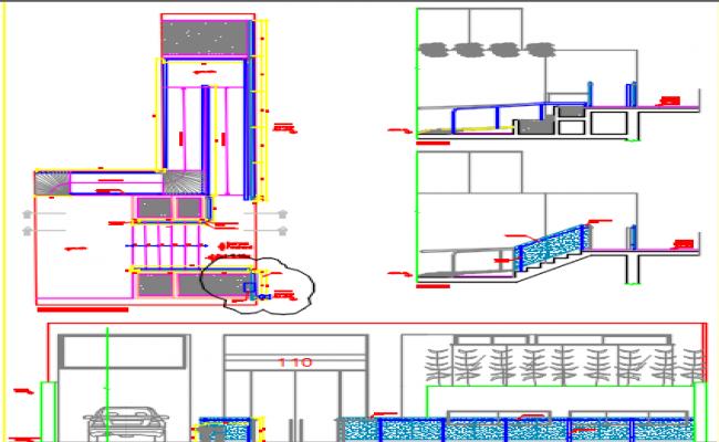 metal carpentry design dwg file