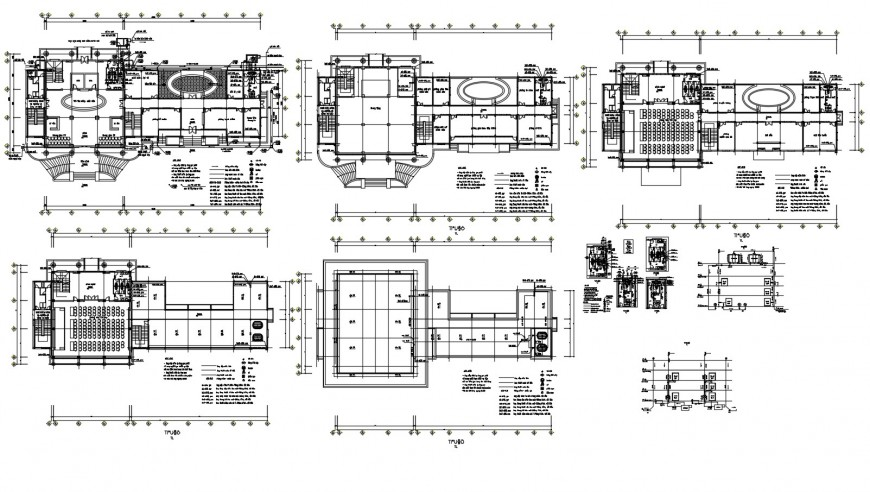 Metbang multiplex theater floor plan and auto-cad drawing details dwg file