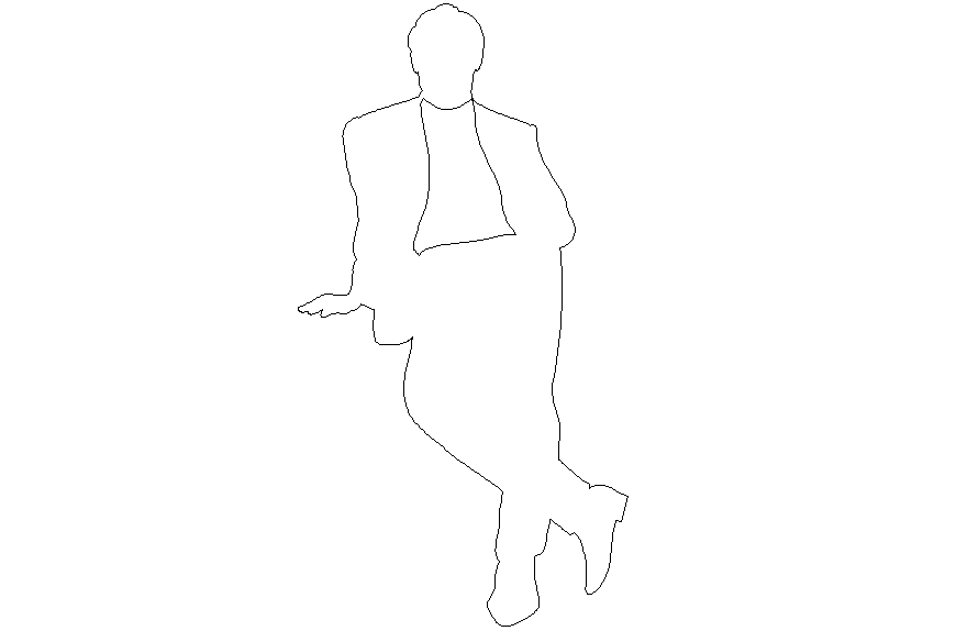 Middle class people layout 2 d detail dwg file