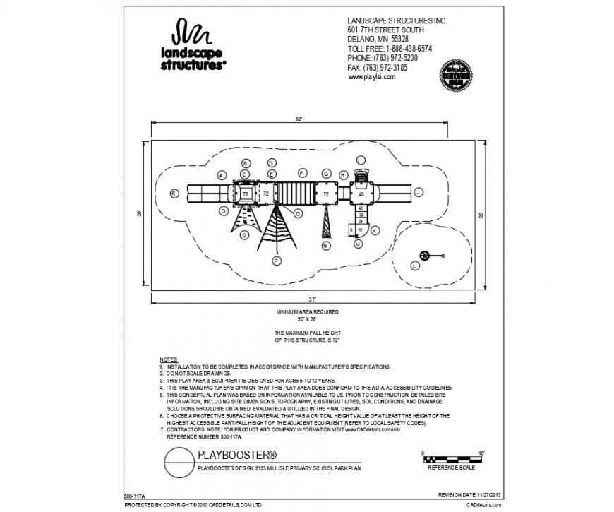 Millisle primary school park plan and landscaping details dwg file